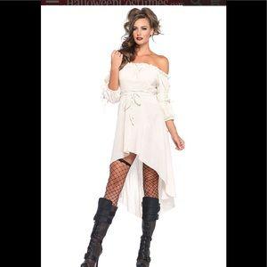 Leg Avenue Women's High Low Peasant Dress Costume,